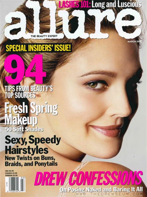 Drew Barrymore On March Cover Of by Drew Barrymore 2002 Magazines The Drewseum