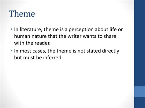 themes in literature test 7 elements of a story