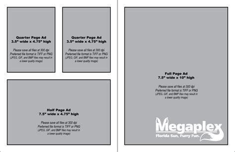 templates for ads convention book megaplex anthropomorphic convention