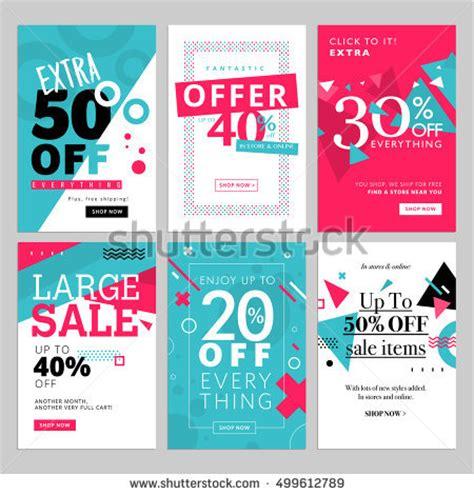 html design sle social media sale banners ads web stock vector 499612789