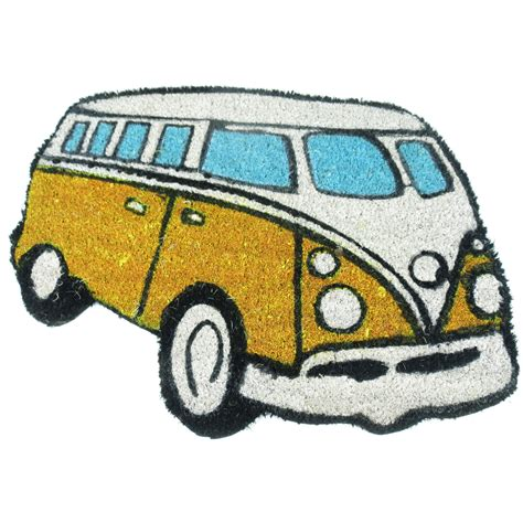 Vans Doormat vw cer shaped door mat splittie coir novelty