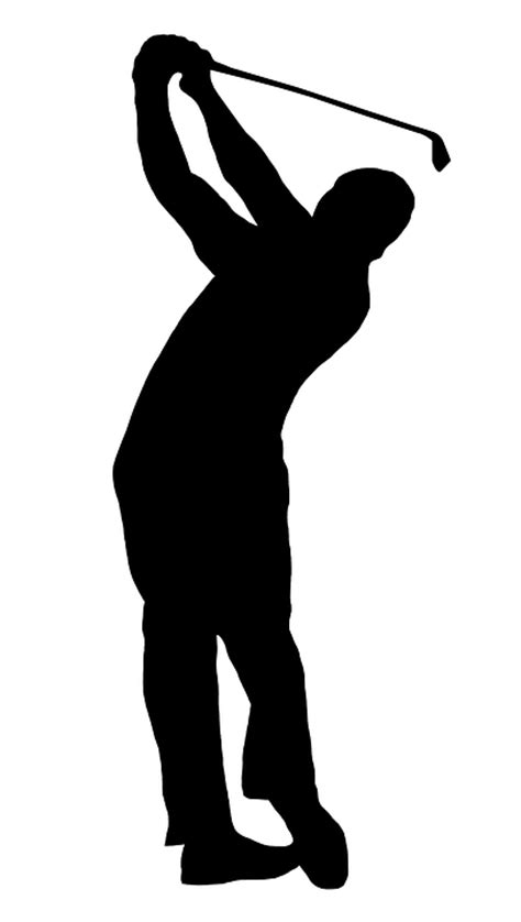 swing golf italiano illustration gratuite golfeur silhouette swing golf