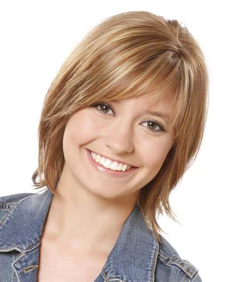 Hairstyles For Round Face With Straight Hair | short straight hairstyles with bangs short hairstyles