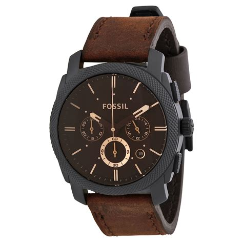 Jam Tangan Fosil Dateday Leather Black Premium 1 ceas original bărbătesc fossil flight fs4656 ceasuri pro