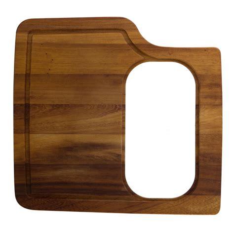 kitchen sink with cutting board alfi brand wood cutting board for kitchen sinks ab50wcb