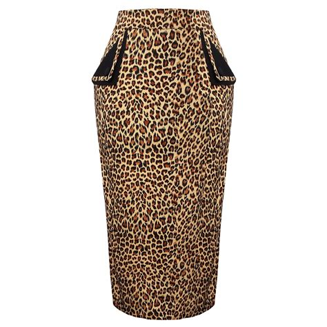 banned leopard print pencil skirt banned days