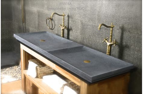 bathroom trough sinks 63 double trough trendy gray granite bathroom sink riviera