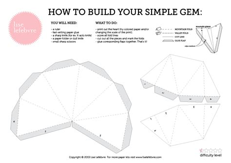 product paper template diamonds papercraft template free studio lise lefebvre