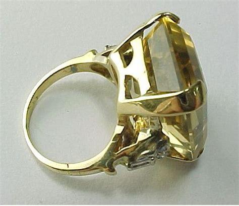 Citrine 3 57 Carats crafted vintage 23 5 carat emerald cut citrine ring
