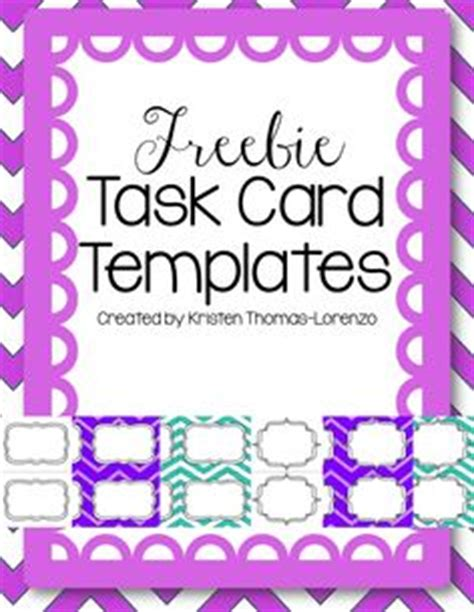blank task cards template 1000 images about free task card templates on