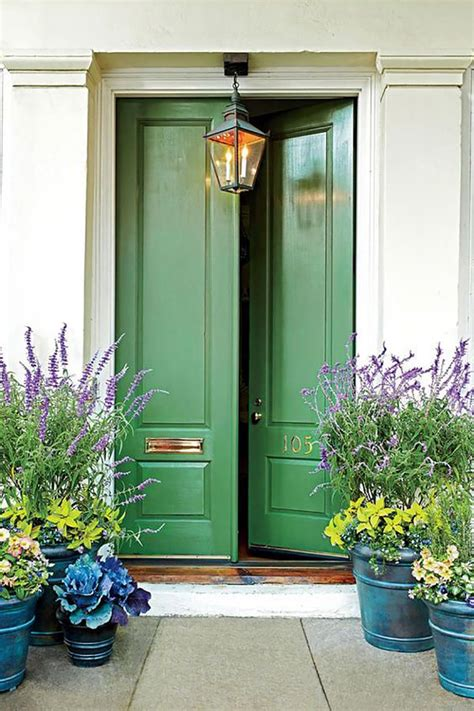 green front door 10 colorful front doors that ll make you want to bust out