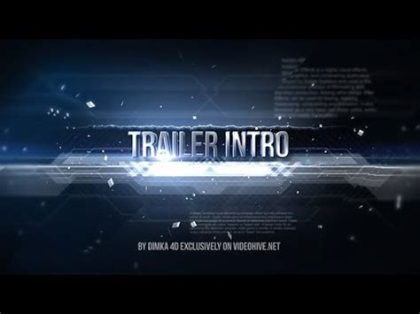 Trailer Intro After Effects Project Videohive Template Youtube Trailer Template After Effects Project