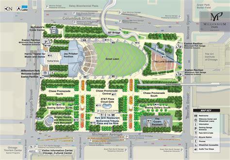 Grant Park Chicago Map by City Of Chicago Millennium Park Plan Your Visit