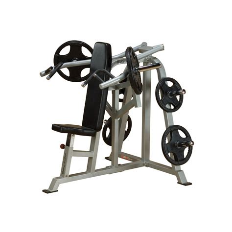 body solid leverage bench press body solid lvsp leverage shoulder press bench