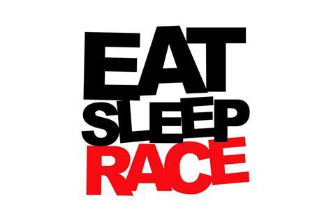 Eat Sleep eat sleep race 174 black license plate frame with eat sleep