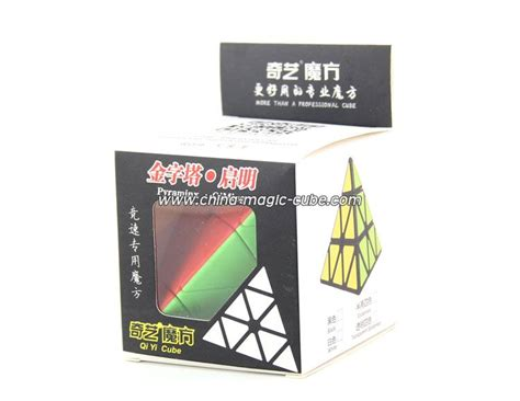 Rubik Pyraminx Qiyi Qiming A Pyraminx Speed Cube Black Base qiyi qiming pyraminx stickerless magic cube speed cube