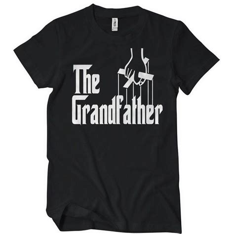 Tshirt Grandfather the grandfather t shirt godfather textual tees