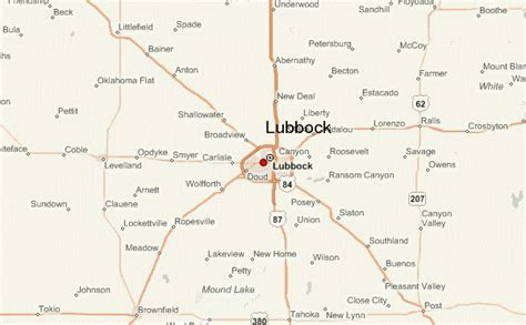 map of lubbock texas lubbock location guide