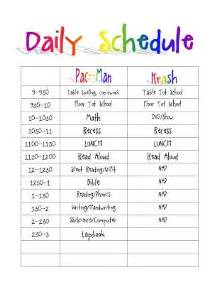 everyday schedule template printable daily routine schedule template clipart autism