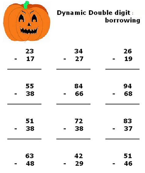 fun halloween math worksheets for 1st grade fall