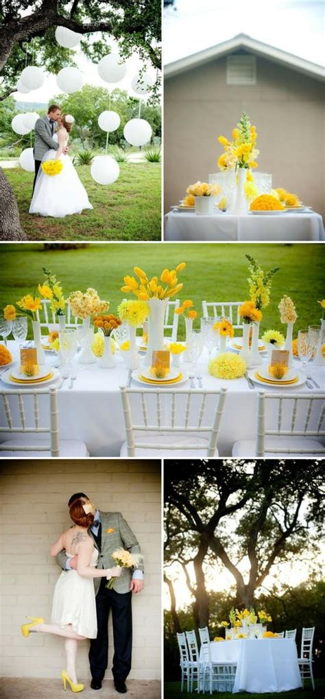 Yellow Decoration For Wedding by Yellow Wedding Wedding Decoration Ideas 805658 Weddbook