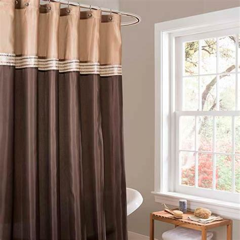 Beige And Green Curtains Decorating Terra Brown And Beige Shower Curtain Lush Decor Shower Curtains Bath Accessories Bath
