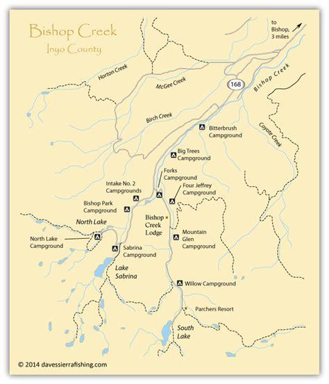 california map bishop bishop creek map eastern fishing maps