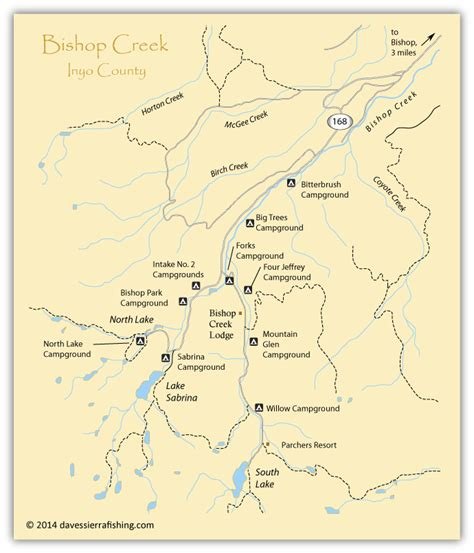 bishop california map map of the bishop creek area inyo county ca california