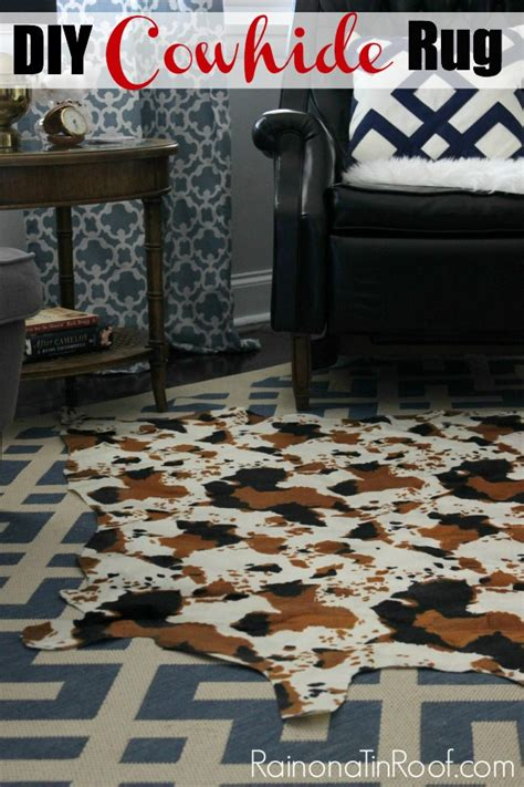 diy faux cowhide rug diy cowhide rug for only 15 and no painting required