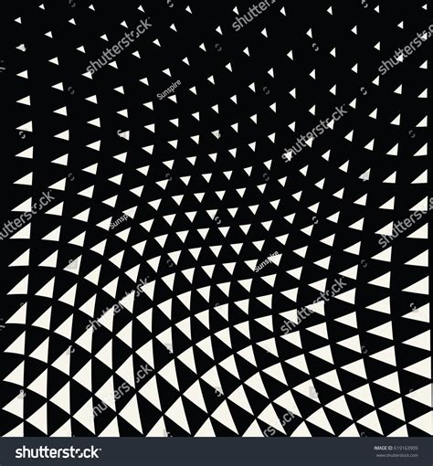 triangle halftone pattern geometric triangle halftone minimal pattern vector stock