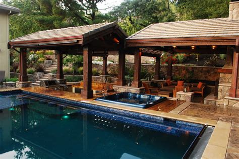 outdoor living spaces with pool a lavish outdoor living space lafayette ca