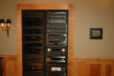 home theater in wall rack audio component rack