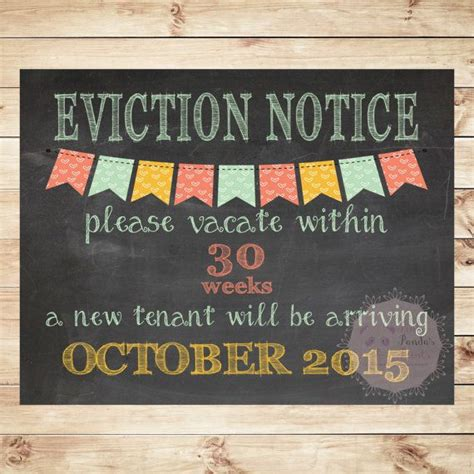printable baby eviction notice 10 images about eviction on pinterest real estate