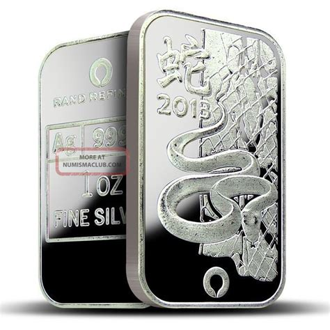 1 Oz 2013 Year Of The Snake 999 Silver Bar