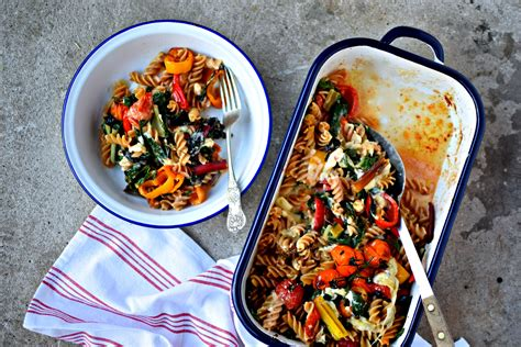 pasta comfort food self saucing cheese and roasted vegetable pasta and