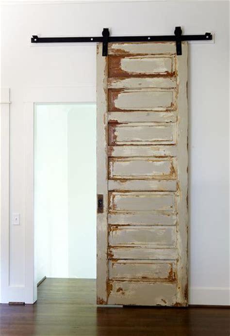 Make A Standard Door A Sliding Door Using Barn Door Make Barn Door Hardware