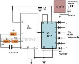 Car Led Circuit Diagram How To Make Car Led Chasing Light Brake Light Circuit