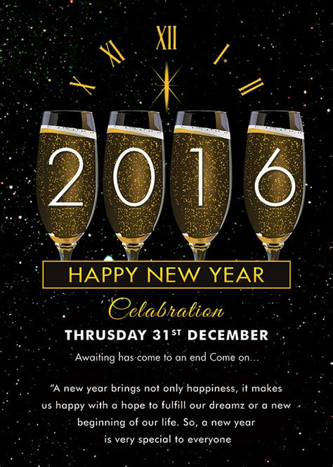 25 New Year Invitation Templates To Download Sle Templates New Year Invitation Template