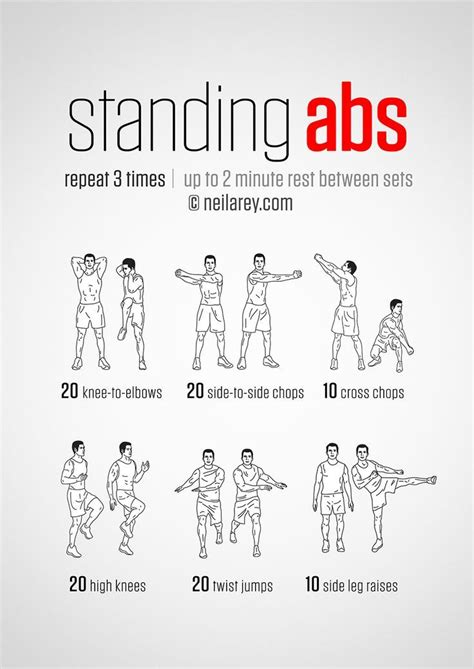 20 stomach burning ab workouts from neilarey work it out standing ab exercises