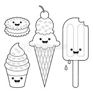 10 images kawaii coloring pages embroidery ideas popsicles ice