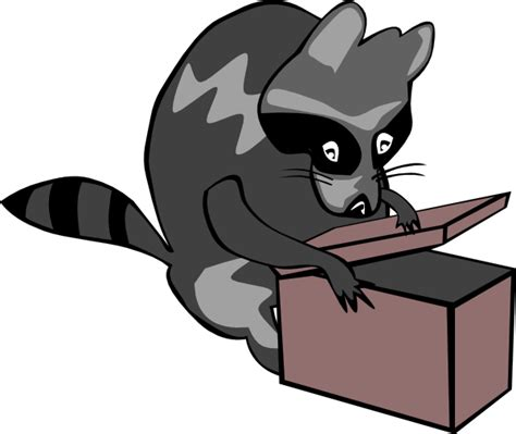 open clipart raccoon opening box clip at clker vector clip