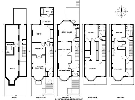 nyc brownstone floor plans brownstone house plans in multi family townhouse for sale