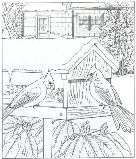 coloring pages of bird feeders kleurplaten en zo 187 kleurplaat van kardinaalvogel