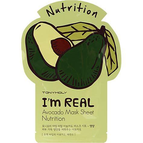 Masker Tony Moly I M Real i m real avocado mask sheet ulta