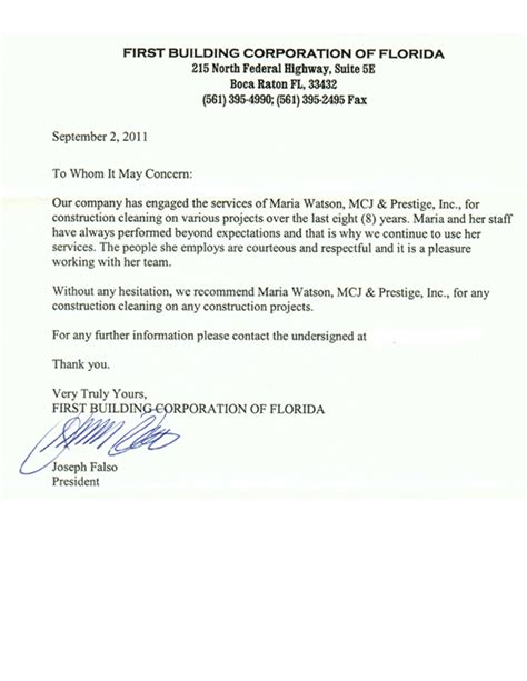 Reference Letter Janitor reference letter for cleaning 28 images reference