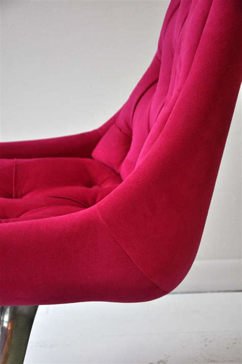 pink swivel chair pink swivel chair at 1stdibs
