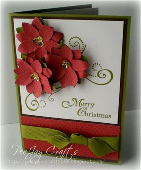 greeting card ideas at home beautyful poinsettia plant and how to