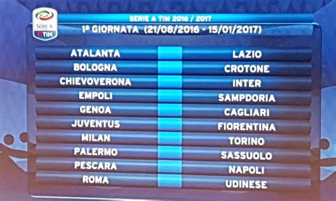Calendario Serie A Parte La Serie A Big Match Dalla 1 Giornata Il Via Il