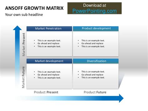 Powerpoint Ansoff Growth Matrix Ansoff Matrix Ppt