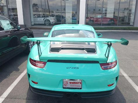 porsche mint green mint green porsche 991 gt3 rs sighted